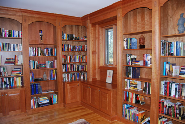 Custom Cherry Library Built In Shelves | Handmade By Fosteru0027s Cabinet Shop    Norwich NY